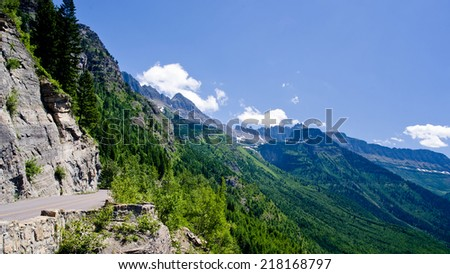 Going to the Sun Road - Glacier National Park - stock photo