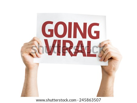 Going Viral card isolated on white background - stock photo