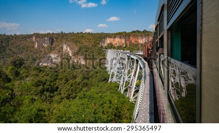 Gokteik Viaduct, at 318ft high and 2257ft across, the second-highest railway  bridge in the world, Myanmar - stock photo