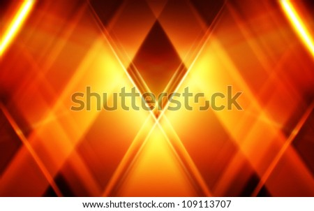 Gold abstract diamond background - stock photo