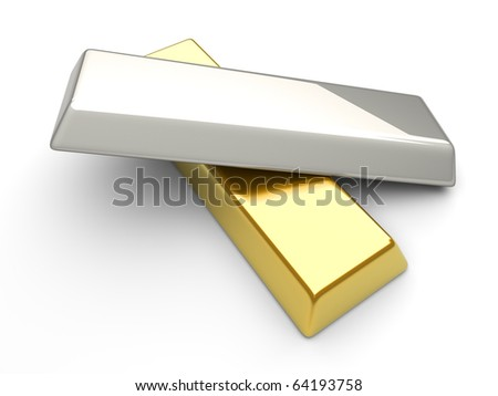 Gold and silver - stock photo