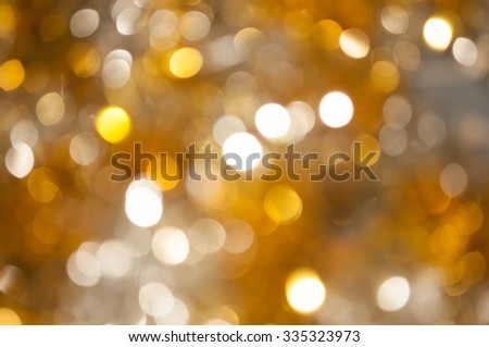Gold and silver bokeh Glittering holiday textured Christmas background - stock photo