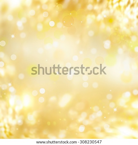 Gold background. Abstract holiday glowing golden background. Christmas Holiday glowing Abstract Glitter Defocused Background With Blinking Stars. Blurred Bokeh  - stock photo