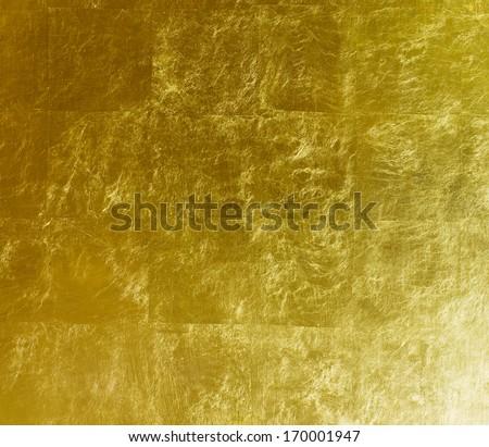 gold  background, gilded gold leaf - stock photo