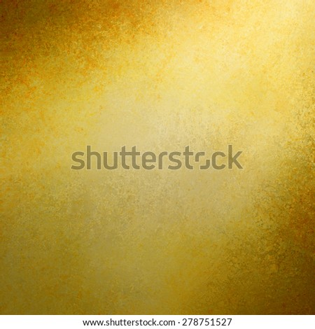 gold background spotlight design with brown corners and grunge textured borders, elegant luxurious gold color background design with copyspace for text title or image, rich luxury gold background - stock photo