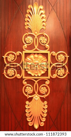 gold background traditional - stock photo