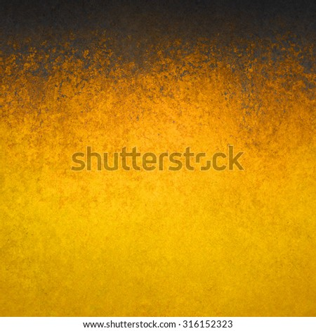 gold background with black grunge textured border design - stock photo