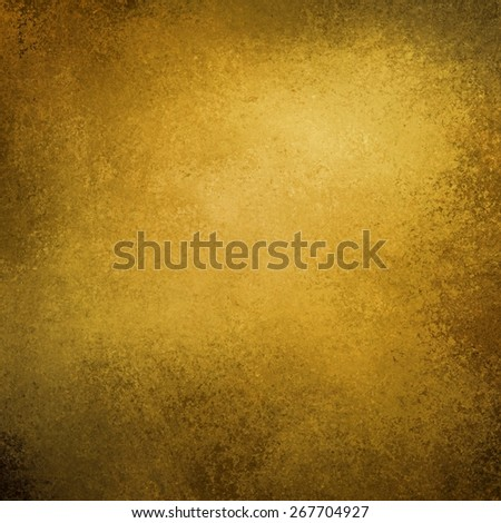 gold background with burnt black edges or vignette - stock photo