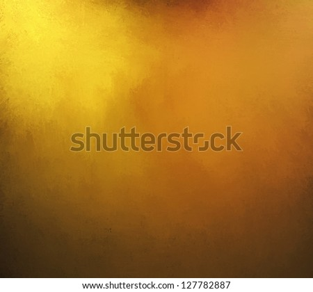 gold background with rich yellow and brown or sepia tone colors with vintage grunge texture and black vignette frame border of shiny hammered metal illustration - stock photo