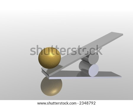 gold ball - stock photo