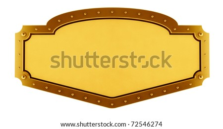 Gold  Banner - stock photo