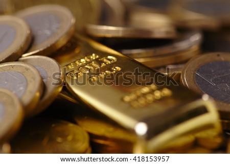gold bar concept - stock photo