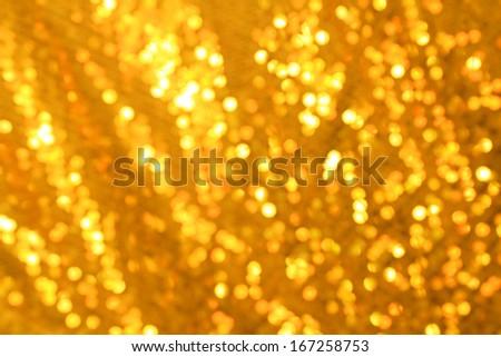 Gold blurred light  - stock photo