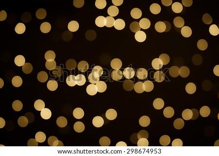 Gold Bokeh background - stock photo