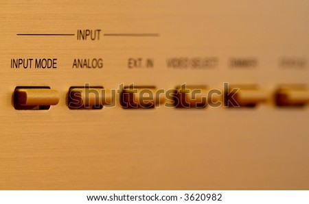 Gold buttons - switch, - stock photo