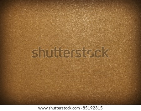 Gold canvas texture or background - stock photo