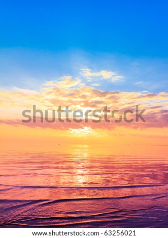 Gold Cast from the Sky - stock photo