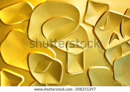 Gold ceiling interior floor nobody perspective white lamp blank sterilized bright studio  culture presentation ceiling seat event treasure hall shape equipment modern stage wood audience entertainment - stock photo