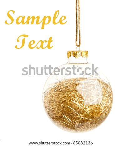 Gold Christmas ball - stock photo