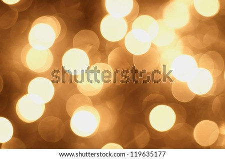 Gold Christmas Glittering background - stock photo