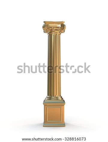 Gold Classic Column - stock photo