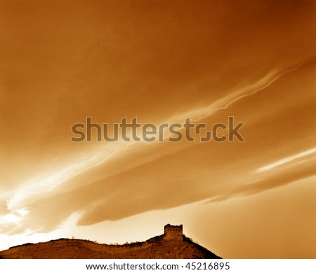 Gold cloud, awesome cloudscape, ideal backgrounds. - stock photo