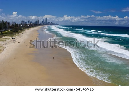 Gold Coast beaches, Queensland Australia - stock photo