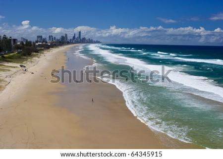 Gold Coast beaches, Queensland Australia - stock photo
