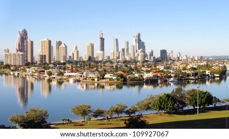 Gold Coast City early morning - stock photo