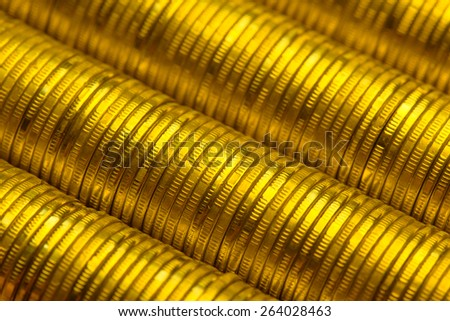 Gold Coin Stacks - stock photo