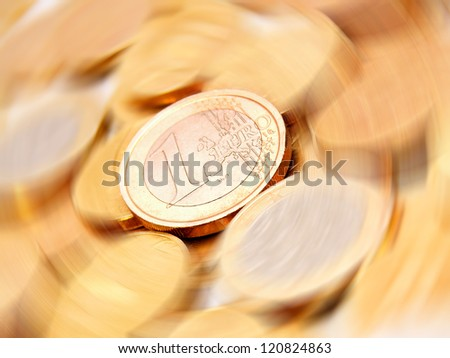 Gold coins. - stock photo
