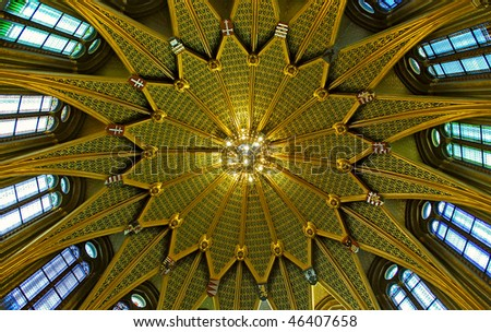 gold cupola dome - stock photo