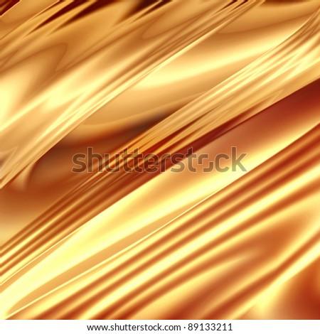 Gold drapery texture - stock photo