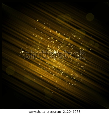 gold dust - stock photo