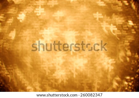 gold eastern orthodox cross bokeh background - stock photo