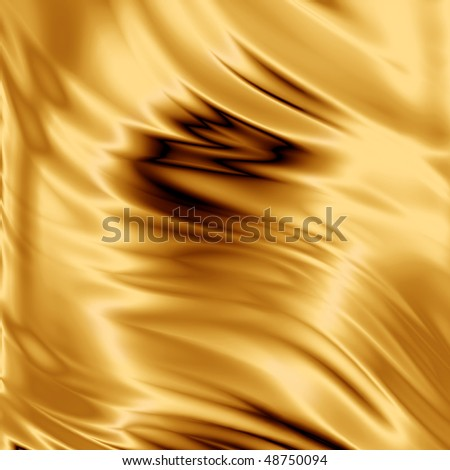 Gold fabric texture - stock photo