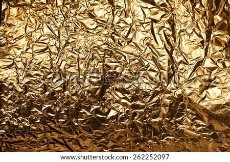 gold foil texture backgrounds - stock photo