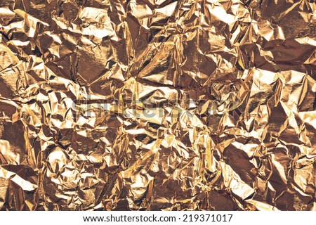 gold foil texture for background  - stock photo