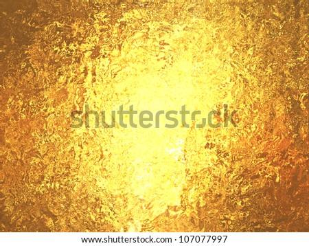 Gold foil wonderful metallic background - stock photo