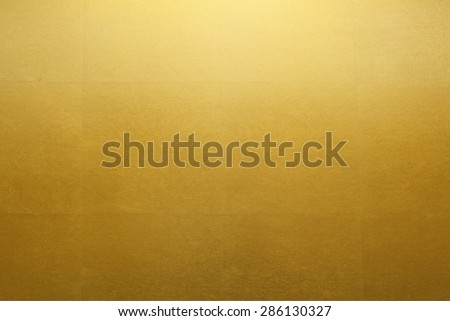 Gold folding screen paper - stock photo