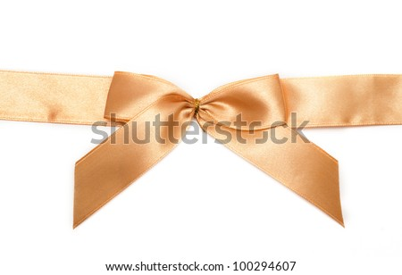 Gold gift bow - stock photo
