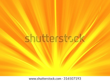 Gold glitter sparkle defocused rays lights bokeh abstract background. - stock photo