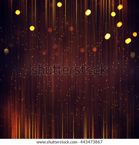 Gold glitter texture on a black background. Holiday background.  - stock photo