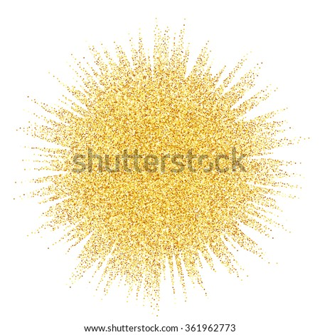 Gold glitter wave abstract background, golden sparkles on white background, vip design template - stock photo