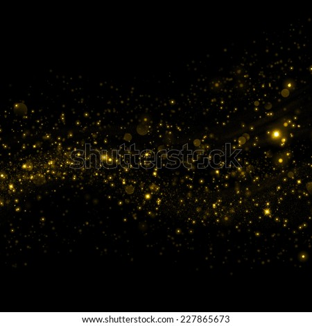 Gold glittering sparkle background - stock photo