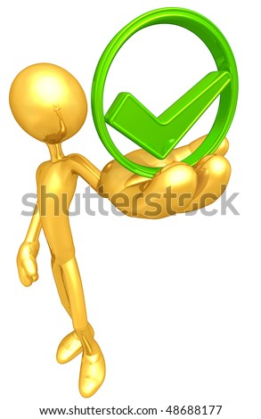 Gold Guy Approved - stock photo