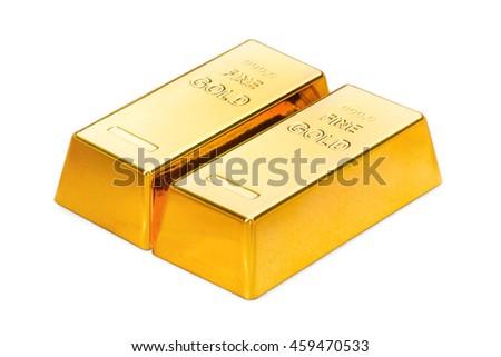 Gold ingots - stock photo