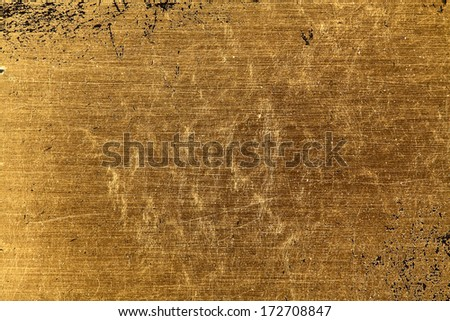 Gold leaf texture - stock photo