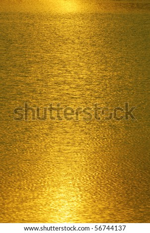 Gold light abstract - stock photo