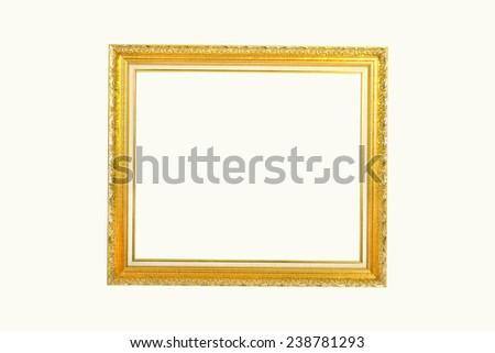 Gold louise photo frame - stock photo